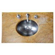 American Art Deco Era Italian Marble Sink
