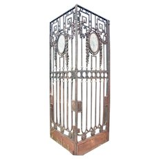 Argentine Neoclassical Wrought Iron Double Gate