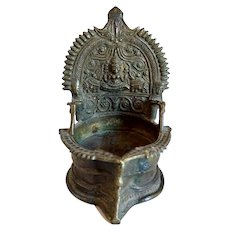 South Indian Deepalakshmi Hindu Brass Votive Oil Lamp