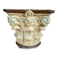 American Painted Tin Corinthian Capital