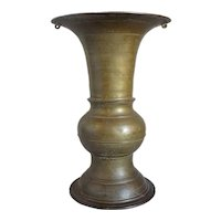Tall South Indian Brass 18 inch Spittoon