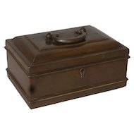 Small Anglo Indian Brass Tea Caddy or Spice Box