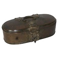 Small Indian Brass Tea Caddy or Spice Box