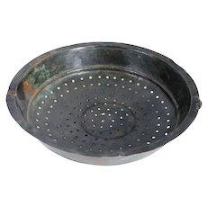 Mediterranean Tinned Kitchen Copper Strainer Bowl