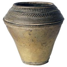 Indian Mughal Bronze Vase