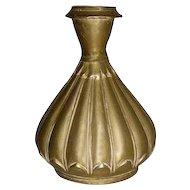 Indian Mughal Bronze Lotus Flower Form Vase