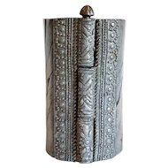 North Indian Mughal Chased Metal Bracelet Cuff