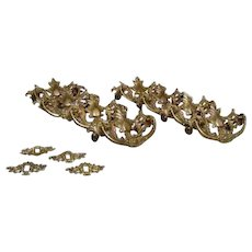 American Victorian Cast Brass Cabinet Hardware (12 pieces)