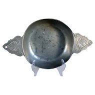 Early French Louis XV Period Pewter Ecuelle