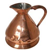 English Victorian Loftus Copper Harvest Jug/Gallon Ale Measure