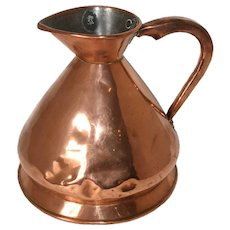 English Victorian Loftus Copper Harvest Jug/Gallon Ale Measure