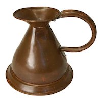 English Copper Harvest Jug/Ale Measure