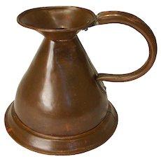English Copper Harvest Jug/Ale Measure