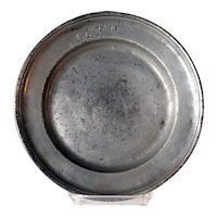 Continental Pewter Reeded Plate