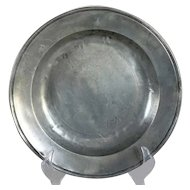 Continental LDB Single-Reeded Rim Pewter Plate