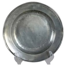 Single-Reeded Rim Pewter Bowl