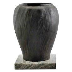 Swedish Jugendstil GUSTAV IVAR CEDERWALL Bronze and Marble Base Vase