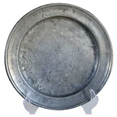 English Georgian Pewter Plate
