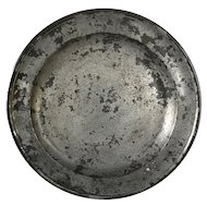 English Export Georgian Samuel Ellis Pewter Plate