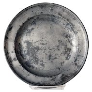 English Georgian Francis Piggott Pewter Plate