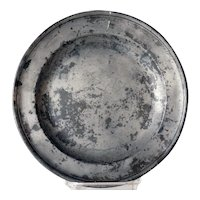 English Georgian Francis Piggott Pewter Single Reeded Plate