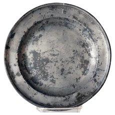 English Georgian Francis Piggott Pewter Plate