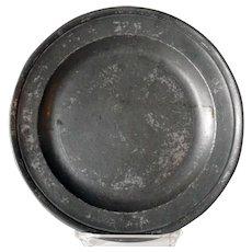 English Georgian Samuel Ellis Pewter Plate