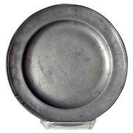 English Georgian Pewter Plate
