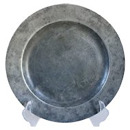 English Georgian Samuel Duncombe Pewter Plate