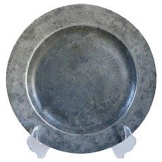 English Georgian Samuel Duncombe Pewter Plate