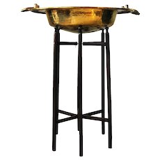 Brass Brazier with Handles on Stand