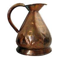 English Copper Gallon Harvest Jug/Ale Measure