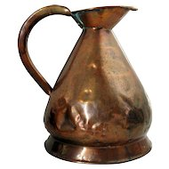 English Copper Gallon Harvest Jug/Ale Measure