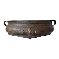South Indian Solid Bronze Cooking Vessel (Urli)