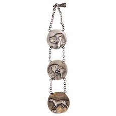 Rare American Fishel, Nessler & Co. Sterling Silver Dog Watch Fob