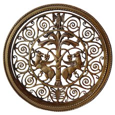 American Colorado National Bank Cast Bronze Round Architectural Grille