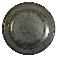 English Georgian John Townsend Pewter Plate