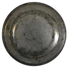 English Georgian John Townsend Pewter Plate