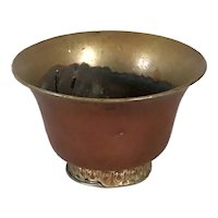Tibetan Brass and Copper Tea Bowl (Jha Phor)