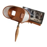 American Wood and Tin Stereoscope Viewer and 49 Keystone View Company Cards