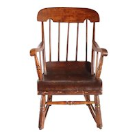 American Boston Pine and Maple Child's Rocking Chair