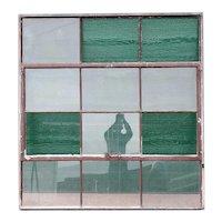 Vintage American Industrial Painted Steel Casement Warehouse Window