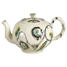 English Whiedon Creamware Pottery Teapot