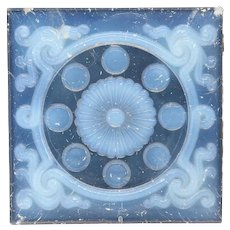 American Victorian Opalescent Pressed Glass Window Panel Tiles (sold each)