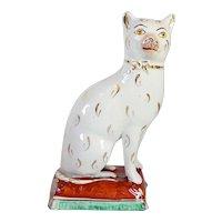 English Victorian 19th century Staffordshire Pottery Cat