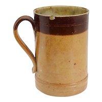 English Georgian Doulton Lambeth Stoneware Pottery Tavern Pint Mug