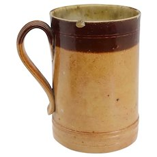 English Georgian Doulton Lambeth Stoneware Pottery Tavern Pint Mug