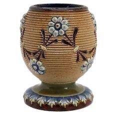 English Doulton Lambeth Stoneware Pottery Match Strike and Holder