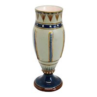 Small Continental Aesthetic Movement Pottery Baluster Vase