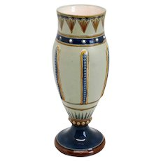 Small German Villeroy & Boch Mettlach Aesthetic Movement Stoneware Pottery Vase